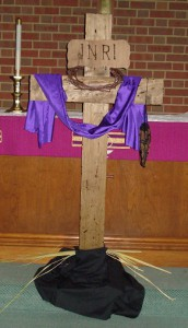 Lent Cross Palm Sunday cropped